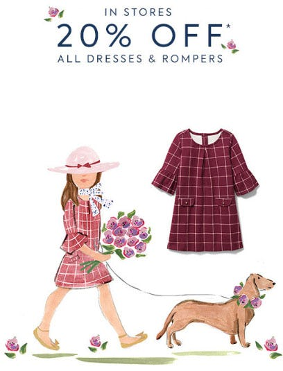 20% Off All Dresses & Rompers from Janie and Jack