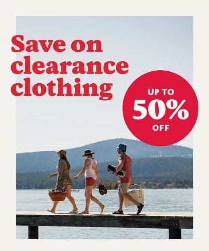 Up to 50% Off Clearance Clothing