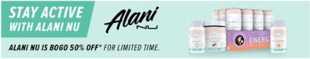Buy One, Get One 50% Off Alani NU from GNC