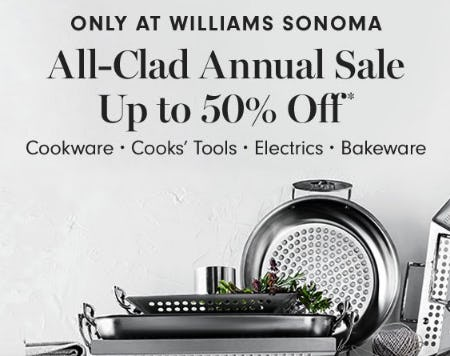 All-Clad Annual Sale up to 50% Off from Williams-Sonoma