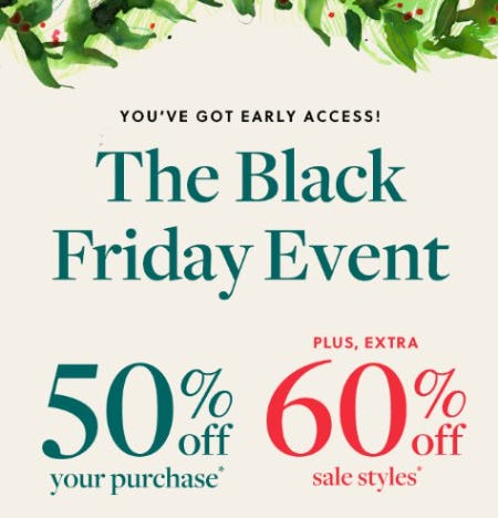 The Black Friday Event from J.Crew