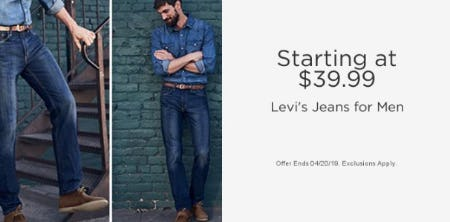 Starting at $39.99 Levi's Jeans for Men
