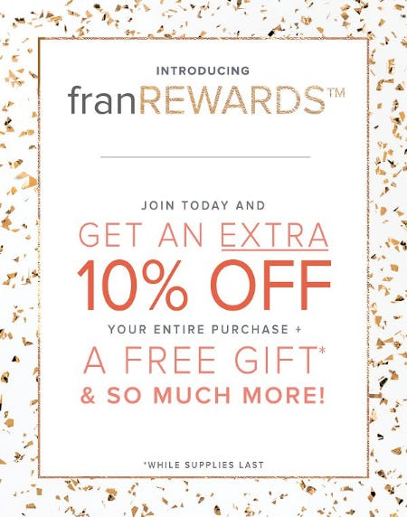 Introducing franREWARDS! from francesca's