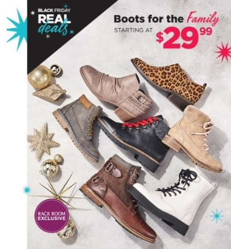 Boots for the Family Starting at $29.99 from Rack Room Shoes
