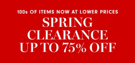 Up to 75% Off Spring Clearance from Williams-Sonoma