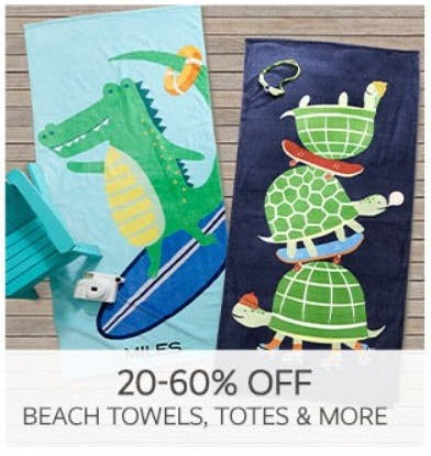 20–60% Off Beach Towels, Totes & More from Pottery Barn Kids