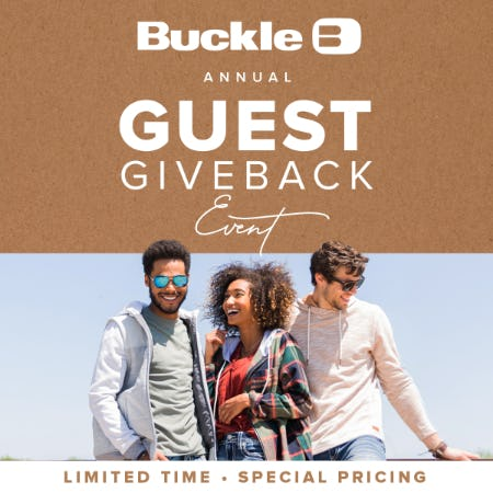 Annual Guest Giveback Event at Buckle from Buckle