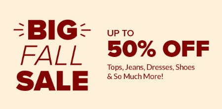 Up to 50% Off Big Fall Sale from Rainbow