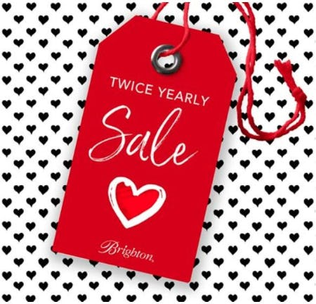 Twice yearly SALE happening now from Brighton