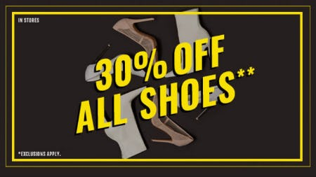 30% Off All Shoes from Forever 21