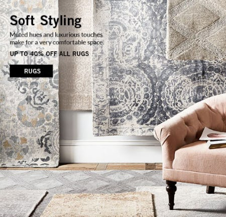 Up to 40% Off All Rugs