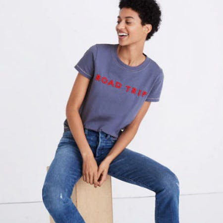 Embroidered Road Trip Tee from Madewell
