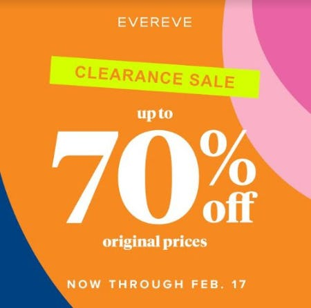 February Clearance Sale from Evereve