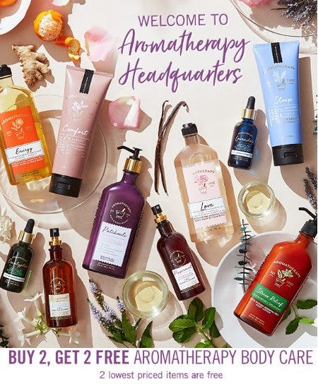 Buy 2, Get 2 Free Aromatherapy Body Care from Bath & Body Works