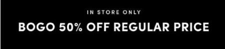 BOGO 50% Off Regular Price