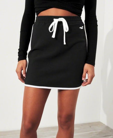 Curved Hem Fleece Skirt from Hollister Co.