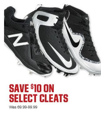Save $10 on Select Cleats