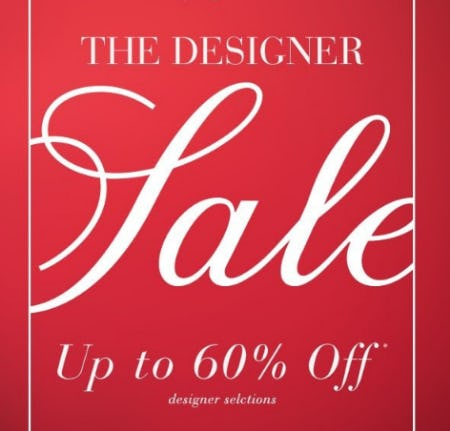 The Designer Sale Up to 60% Off from Saks Fifth Avenue