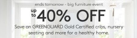 Big Furniture Event: Up to 40% Off from Pottery Barn Kids
