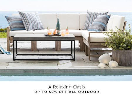 Up to 50% Off All Outdoor from Pottery Barn