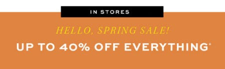Up to 40% Off Spring Sale from Pottery Barn
