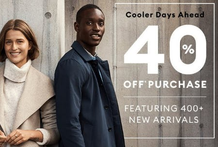 40% Off Purchase