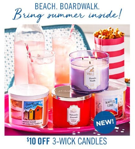 $10 Off 3-Wick Candles