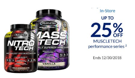 Up to 25% Off Muscletech Performance Series