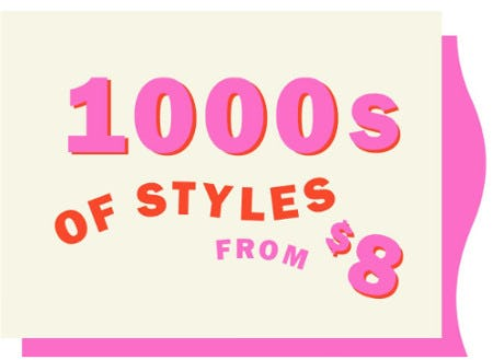 1000s of Styles From $8 from Old Navy