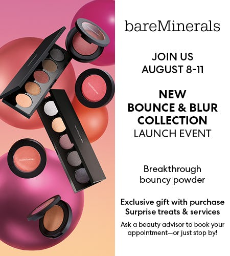 Bounce & Blur Launch Event from bareMinerals