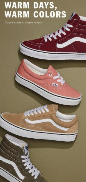 Warm Days, Warm Colors from Vans