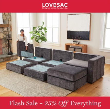 FLASH SALE- 25% Off (Almost) Everything from Lovesac