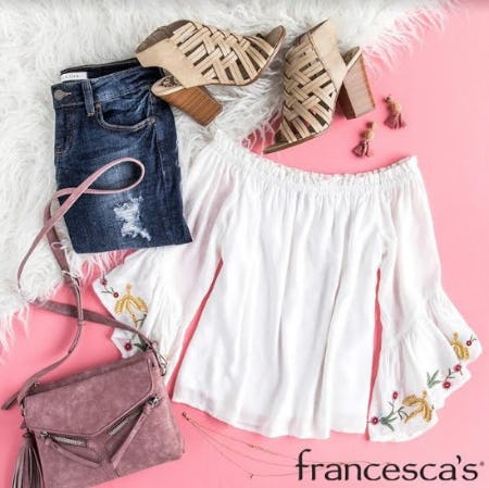 Full Price Clothing, Jewelry, Accessories, and Shoes Mix & Match, BOGO 50% Off from francesca's