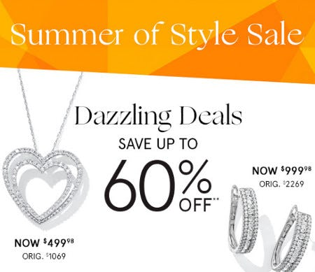 Dazzling Deals: Save Up to 60% Off