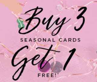 B3G1 Free Seasonal Cards from PAPYRUS
