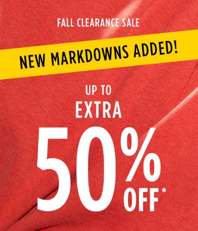 Up to Extra 50% Off Fall Clearance Sale