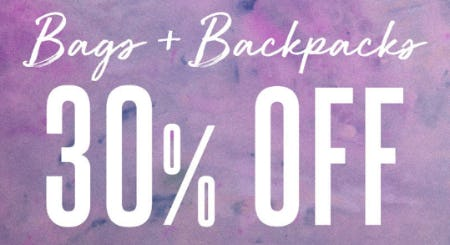 30% Off Bags & Backpacks from Earthbound Trading Co