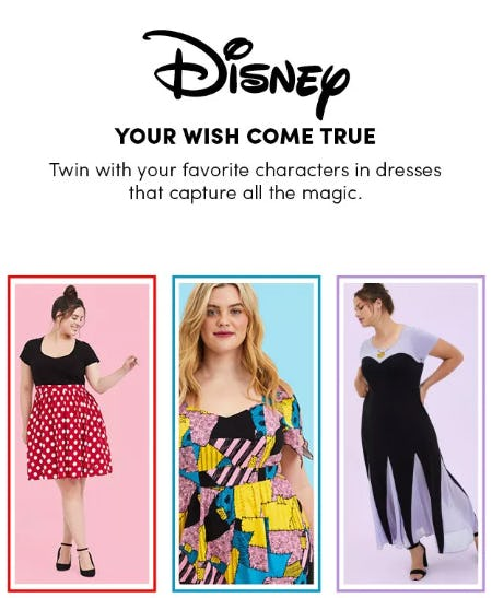 New: Disney Dresses For Twinning Moments from Torrid
