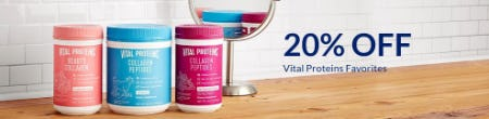 20% Off Vital Proteins Favorites from The Vitamin Shoppe