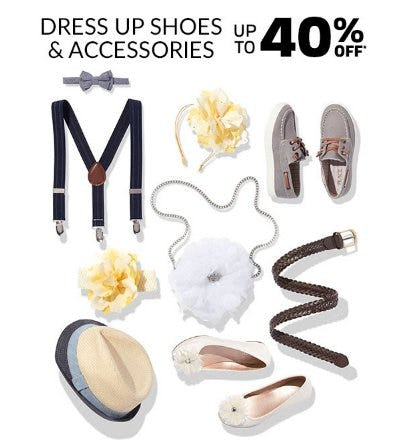 Dress Up Shoes & Accessories up to 40% Off from The Children's Place Gymboree