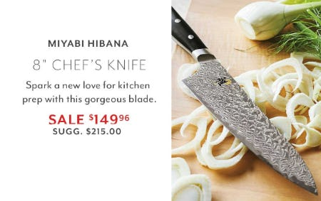 Miyabi Hibana Chef's Knife from Sur La Table