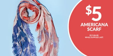 $5 Americana Scarf from Charming Charlie