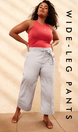 cf31affa40 Flattering fit, wear-everywhere ease and now in our new light-as-air  fabric. Stop by and check out our wide-leg pants in store today!