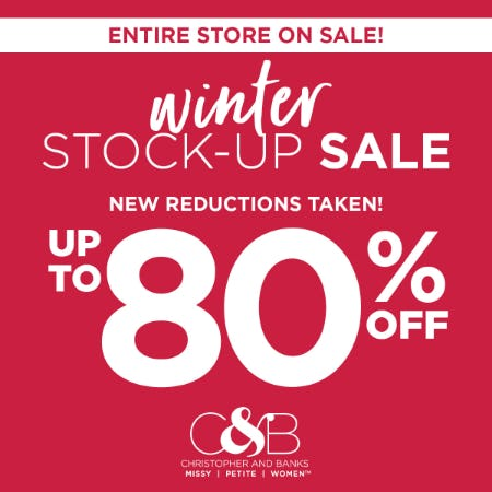 Winter Stock-Up Sale from christopher & banks | cj banks