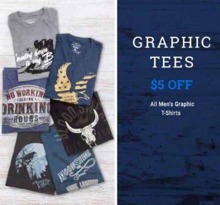 $5 Off Graphic Tees from Boot Barn Western And Work Wear