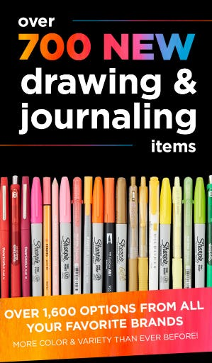 New Drawing & Journaling Items from Michaels