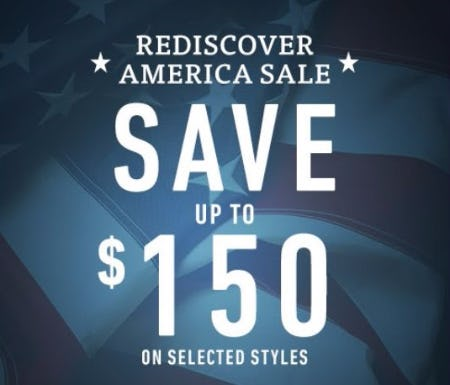 Rediscover America Sale up to $150 Off
