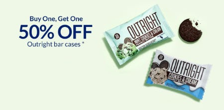 BOGO 50% Off Outright Bar Cases from The Vitamin Shoppe