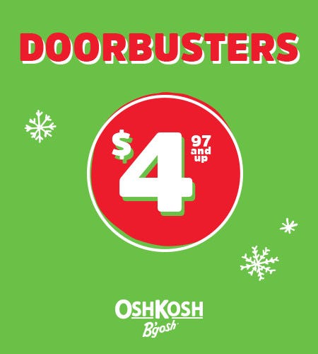 Doorbusters $4.97 and Up from Oshkosh B'gosh