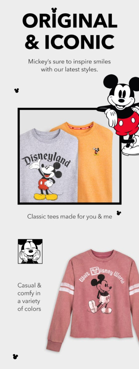Just In: Classic, Iconic Mickey Styles from Disney Store